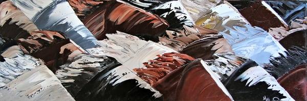 Original Oil On Canvas Painting Wild Horses