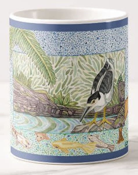 Black Crowned Night Heron Mug | Birds by Boyd
