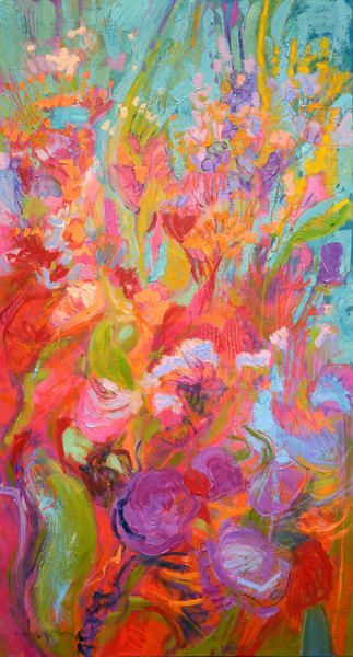 Flourishing Grace (Original Oil) Art | Dorothy Fagan Joy's Garden