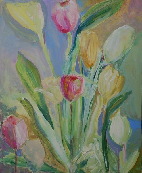 Bouquet Of Tulips Art | All Together Art, Inc Jane Runyeon Works of Art