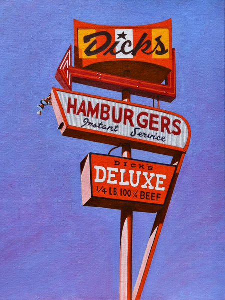 Dicks Hamburgers Art | samvance