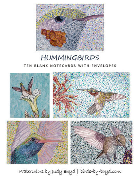 These hummingbird note cards make great gifts for bird lovers