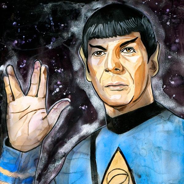 Spock Coaster Art | William K. Stidham - heART Art