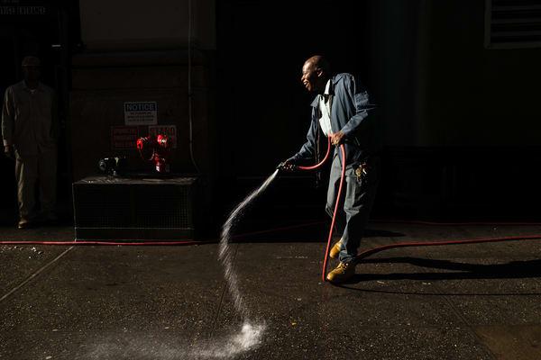 Washing The Sidewalk Photography Art | Ed Lefkowicz Photography