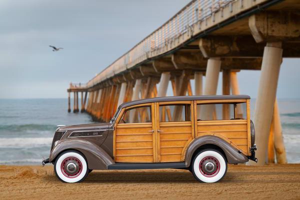'39 Woody on the beach