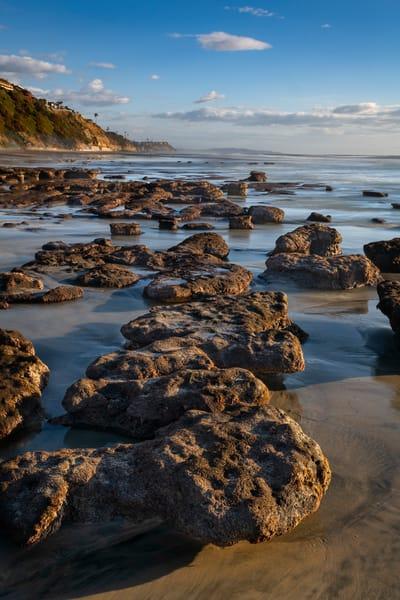 Low tide rocks at Leucadia State Beach