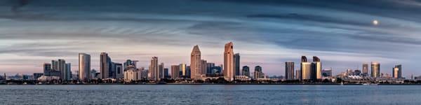 San Diego Downtown Skyline pano
