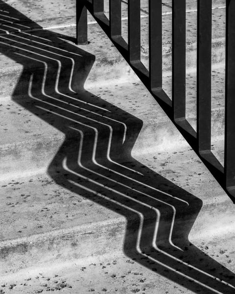 shadow on the steps