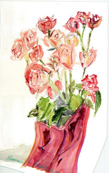 Red Flowers, Red Vase Art   Howard Lawrence Fine Art