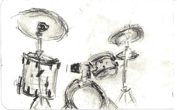 Drum Set Art   Howard Lawrence Fine Art