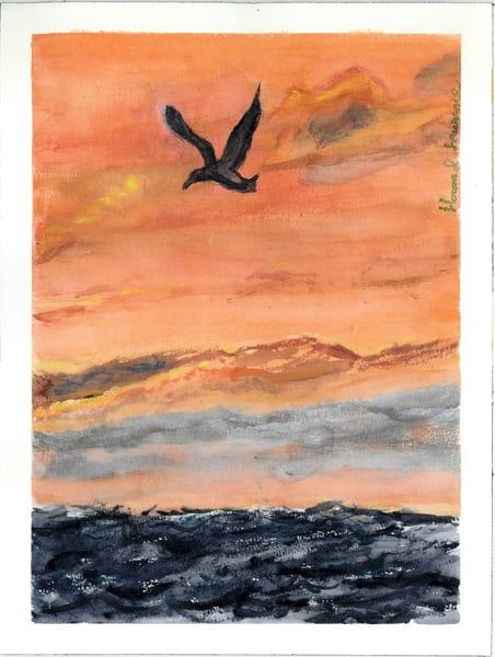 Bird Flying At Dawn Art   Howard Lawrence Fine Art