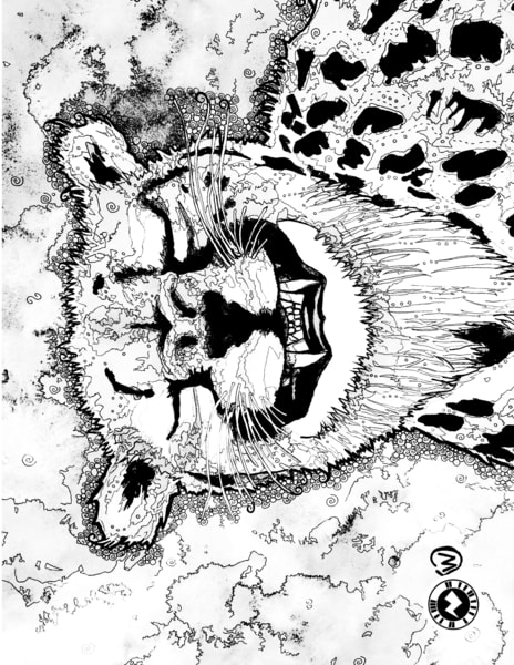 Cheetah Grin Coloring Page