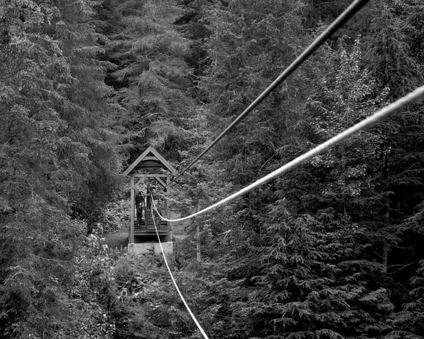Crow Creek Hand Tram 14x18 Bw Photography Art | Eric Hatch