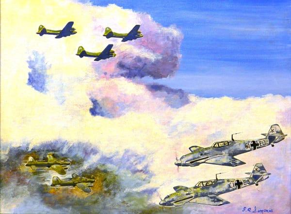 'messerschmitts At 3 O'clock' Art   John Simonis Art Gallery