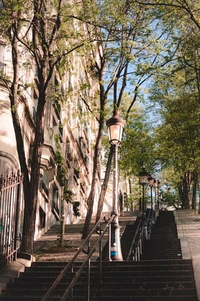 Walking Down The Stairs In Montmartre Photography Art | AngsanaSeeds Photography