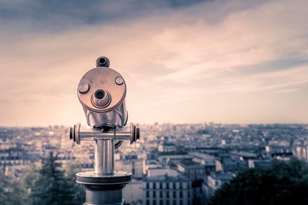 Viewing Scope At Sacre Coeur Art | AngsanaSeeds Photography