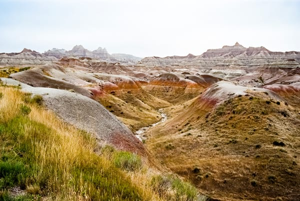 Badlands Stream And Erosion Photography Art   Hatch Photo Artistry LLC