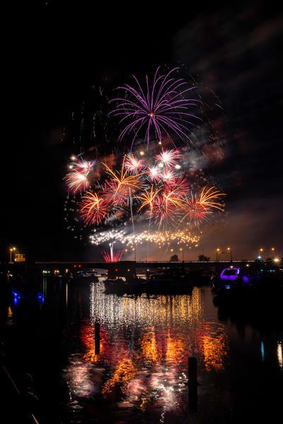 Fireworks bay city fourth of july summer fireworksb