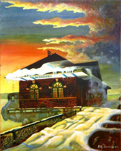 'bemidji Union Station' Art   John Simonis Art Gallery