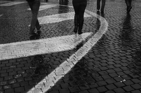 Cobblestone B&W Photograph – Rome Italy Photography - Fine Art Prints on Canvas, Paper, Metal & More
