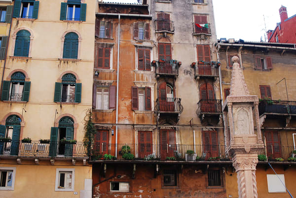 Old Buildings Photograph –The Galleria Mall Italy Art Photography - Fine Art Prints on Canvas, Paper, Metal & More