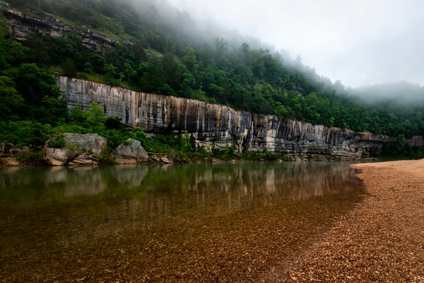 Foggy Buffalo River - Ozark Mountains fine-art photography prints