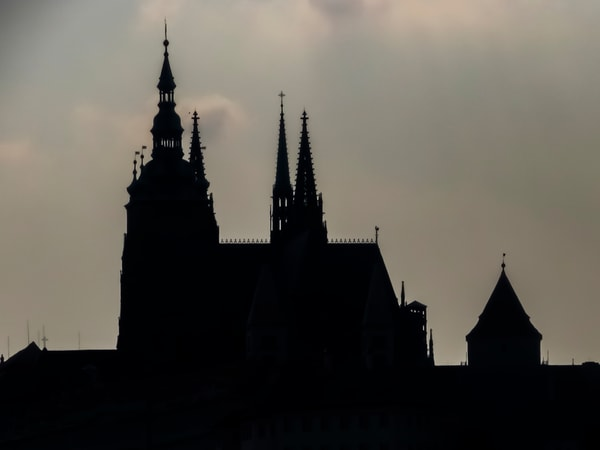 Prague Castle In Silhouette, Photography Art | Ron Olcott Photography