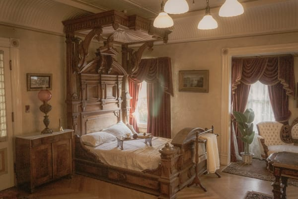 Victorian Bedroom Photography Art | Ron Olcott Photography