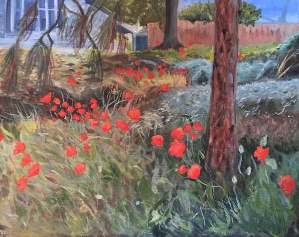 Chinese Poppies In The Neighborhood Art | Scott Dyer Fine Art