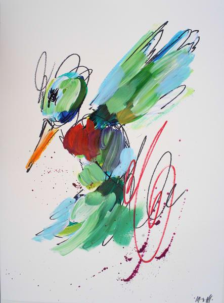 Green Hummingbird  Art | ashalmonte