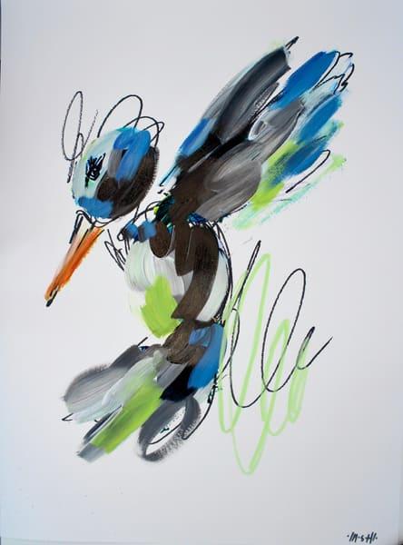 Black & White Hummingbird  Art | ashalmonte
