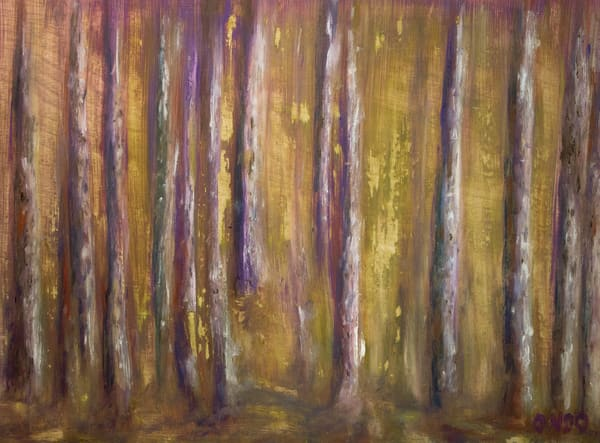 purple trees forest landscape