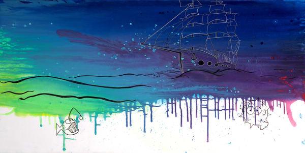 Fish'n'Ships Fine Art Print