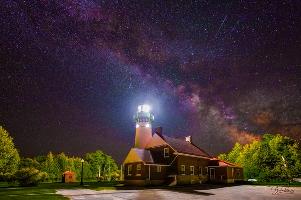 Seul Choix Pointe Lighthouse and the Milky Way