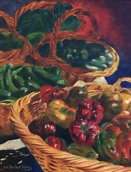 Early Morning Market Art | Jan Thoreen Lewis Fine Art