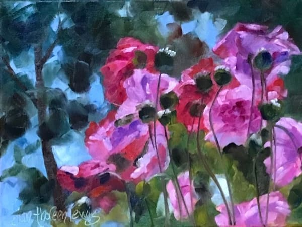 Dancing Poppies Art | Jan Thoreen Lewis Fine Art