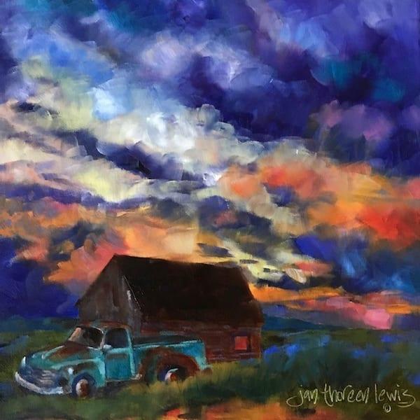 Fire In The Sky Ii Art | Jan Thoreen Lewis Fine Art