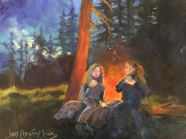 Girls' Night Out Art | Jan Thoreen Lewis Fine Art