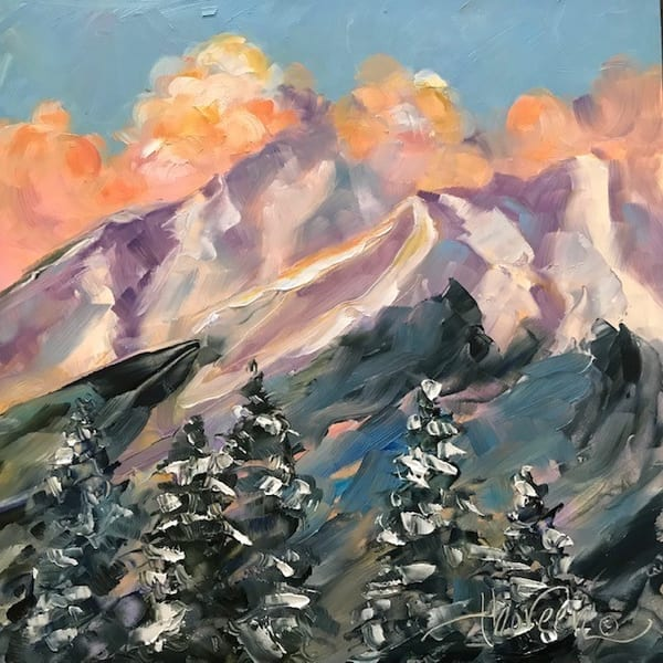 Mt. Princeton Winter Closeup Art | Jan Thoreen Lewis Fine Art