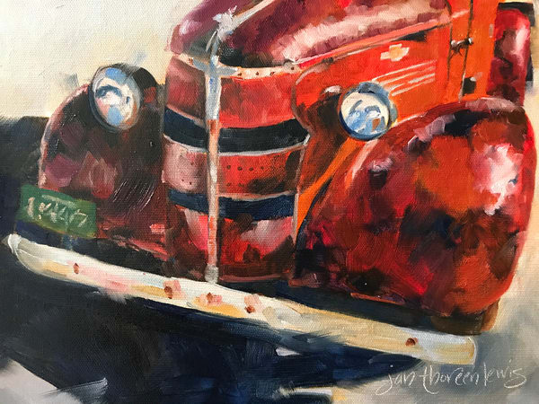Old Red Art | Jan Thoreen Lewis Fine Art