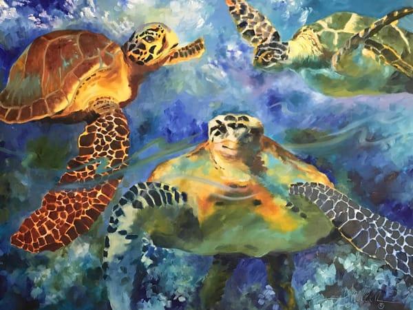 Sea Turtles Art | Jan Thoreen Lewis Fine Art