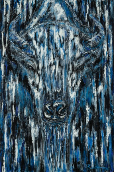 Original White Spirit Buffalo by Ruben Chato