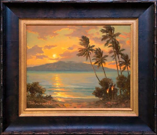 Sunset Tikis ~ In Stock Framed Art | Daryl Millard Gallery LLC