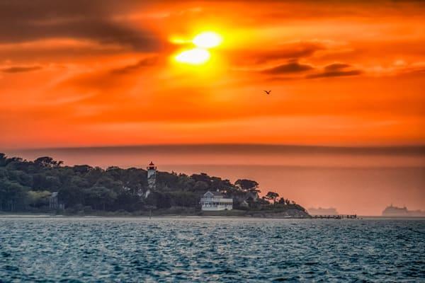 West Chop Light Spring Sunset Clouds Photography Art | Michael Blanchard Inspirational Photography - Crossroads Gallery