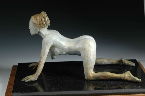 The Sphinx - Female Nude Sculpture in Cast Bronze