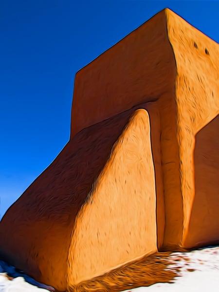 San Francisco De Asis Church, Taos, Nm, Back Buttress Photography Art | Nicholas King Photography
