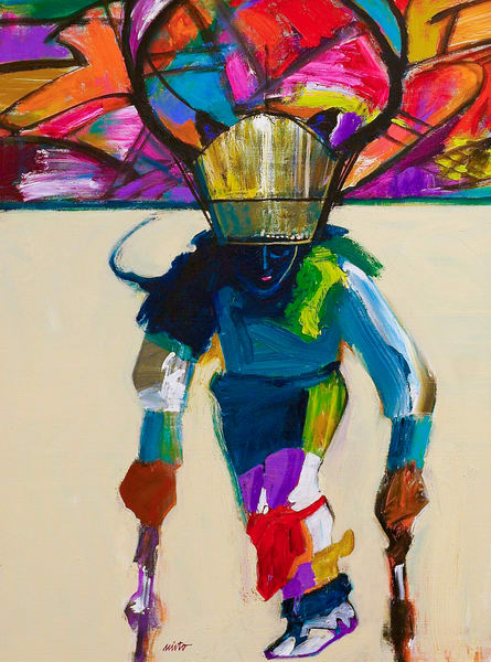 Deer Dancer | John Nieto Original Painting on canvas