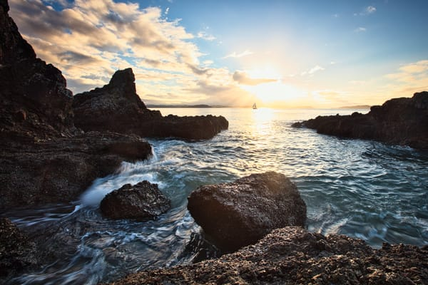 Sunset And Sail Art | Chad Wanstreet Inc