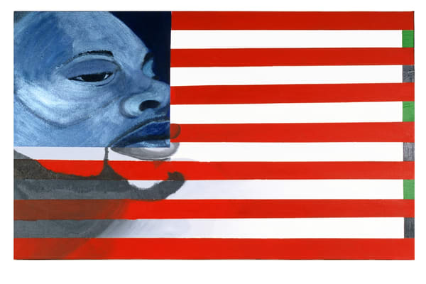 "Original acrylic painting on canvas, ""I, too, am an American"""