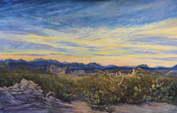 Lindy Cook Severns Art | Sunrise Wakes the Ruins, print